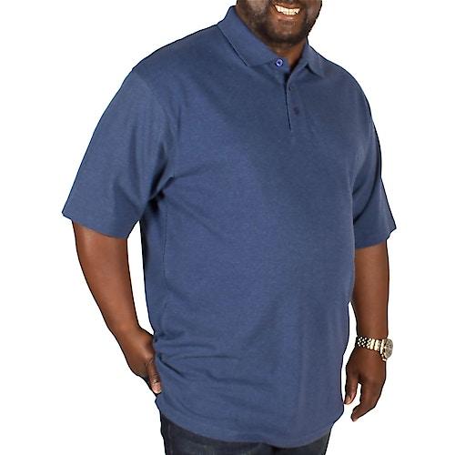 Bigdude Plain Polo Shirt Denim