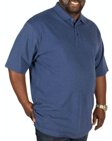 Bigdude Plain Polo Shirt Denim Tall