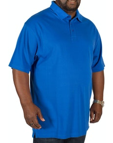 Bigdude Plain Polo Shirt Royal Blue Tall