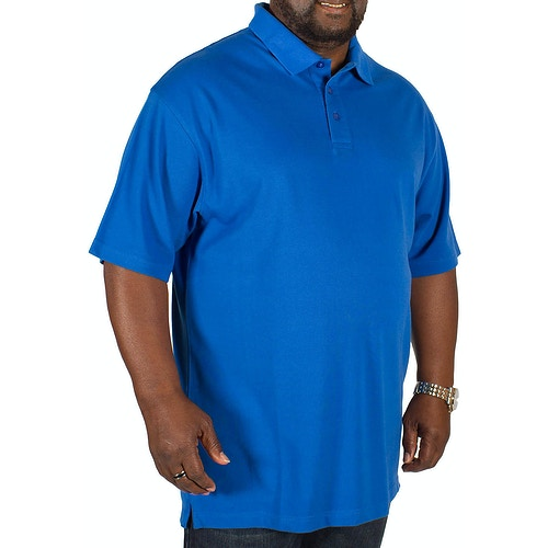 Bigdude Plain Polo Shirt Royal Blue Tall