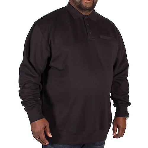 KAM Pullover Polo-Stil Schwarz