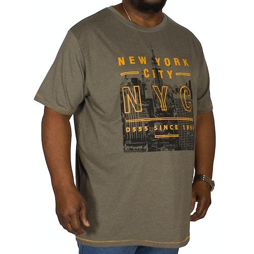 D555 Alex Printed T-Shirt Khaki