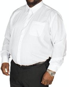 D555 klassisches Hemd Aiden Weiß