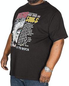 D555 Daley Dead Souls Off Set Print T-Shirt Black Tall