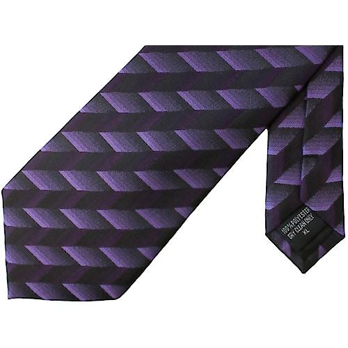 Knightsbridge extra lange Krawatte Streifenmuster Lila