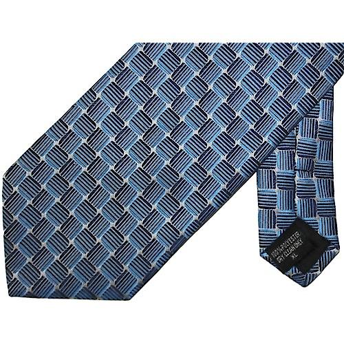 Knightsbridge Extra Long Squares Tie Blue / Navy