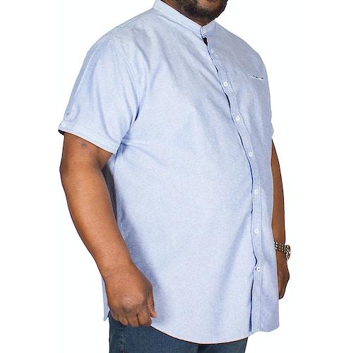 D555 Dwight Oxford Collarless Shirt Sky Blue Tall