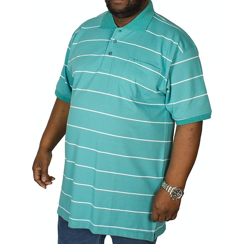 KAM Forge Stripe Polo Shirt Sea