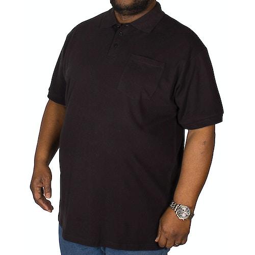 Bigdude Polo Shirt With Pocket - Black