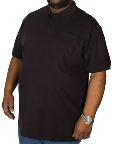 Bigdude Polo Shirt With Pocket Black Tall