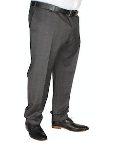 Hugo James Check Trousers Charcoal