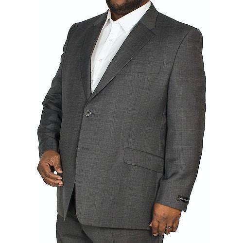 Hugo James Check Jacket Charcoal