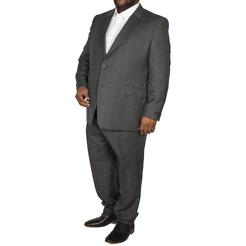 Hugo James Check Suit Charcoal
