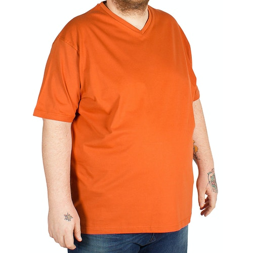 Cotton Valley V Neck T-Shirt Orange