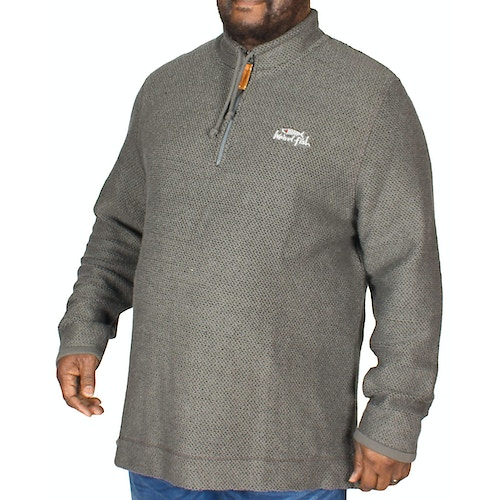 Weird Fish Skipper Quarter Zip Sweater Grey