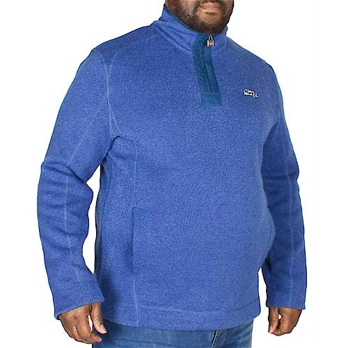 Weird Fish Boons 1/4 Zip Soft Knit Sweatshirt Blue