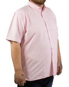 KAM Short Sleeve Oxford Shirt Pink