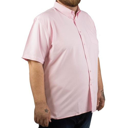 KAM Short Sleeve Oxford Shirt Pink