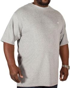 Bigdude Signature T-Shirt mit Rundhalsausschnitt Grau
