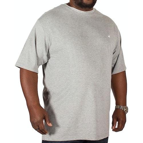 Bigdude Signature Crew Neck T-Shirt Grey Marl