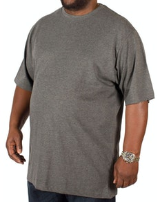 Bigdude Plain Crew Neck T-Shirt Charcoal