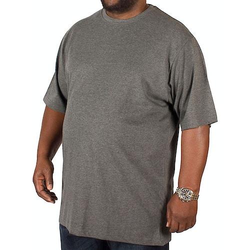 Bigdude Plain Crew Neck T-Shirt Charcoal Tall