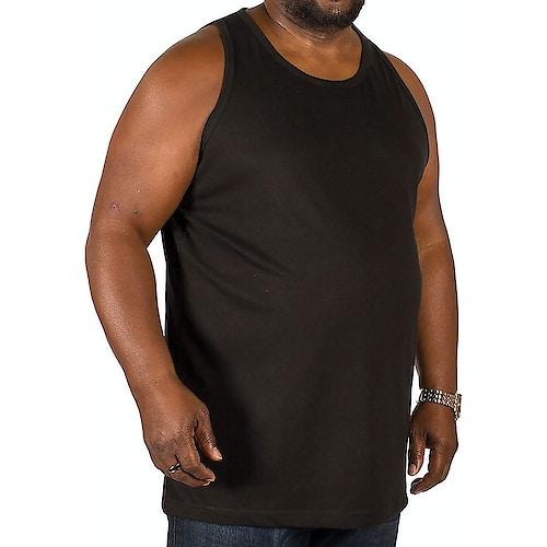 Bigdude Plain Vest Black Tall