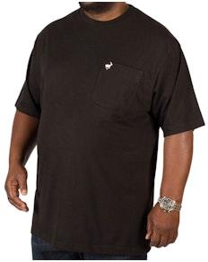 Bigdude Signature T-Shirt mit Brusttasche Schwarz