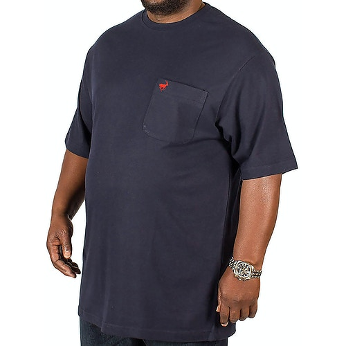 Bigdude Signature Pocket T-Shirt Navy/Red Tall