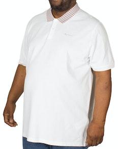 Ben Sherman Jacquard Poloshirt Weiß