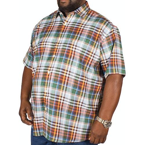 Cotton Valley Short Sleeve Moss Check Shirt