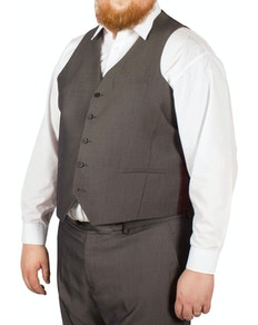 McCarthy Crisitano Easy Fit Waistcoat Charcoal