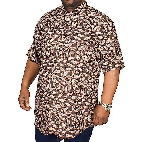 Espionage Feather Print Shirt Black