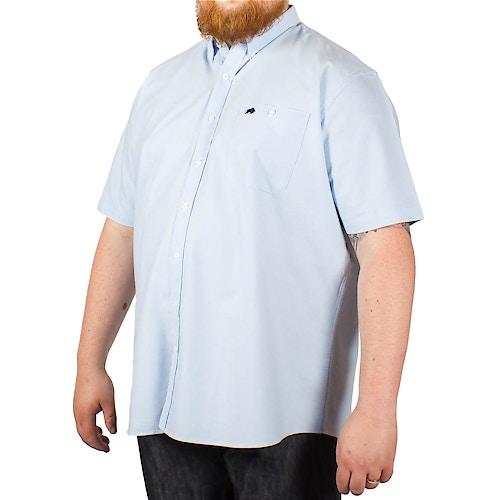 Raging Bull Short Sleeved Oxford Shirt Sky Blue