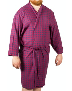 Rael Brook Dressing Gown Red/Navy Check
