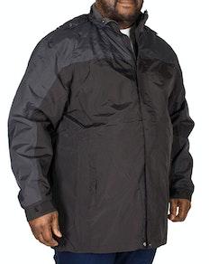 KAM Contrast Showerproof Jacket Black