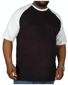 Bigdude T-Shirt mit Raglanärmeln Schwarz/Weiß