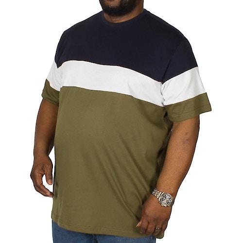 Bigdude Cut & Sew T-Shirt Navy/Olive