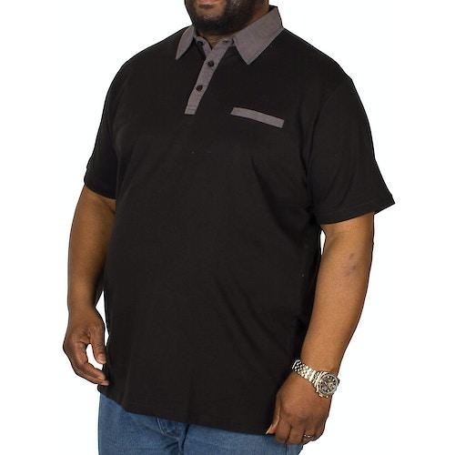Bigdude Jersey Poloshirt Schwarz