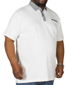 Bigdude Jersey Poloshirt Weiß Tall Fit