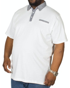 Bigdude Jersey Poloshirt Weiß