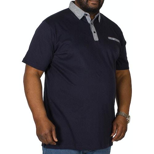 Bigdude Jersey Poloshirt Marineblau