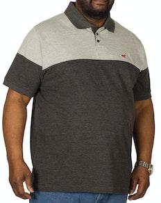 Bigdude Cut & Sew Poloshirt Grau / Dunkelgrau