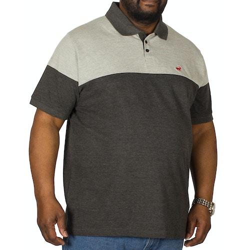 Bigdude Cut & Sew Polo Shirt Grey/Charcoal