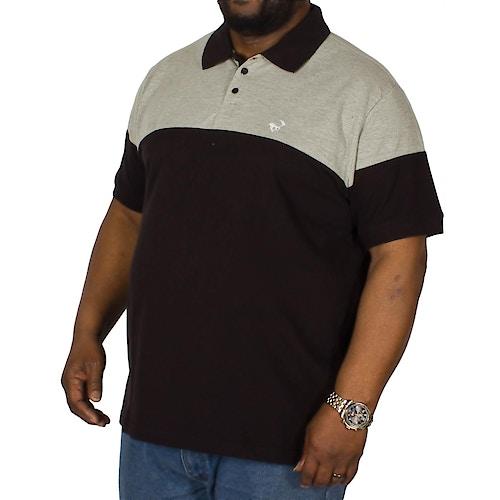 Bigdude Cut & Sew Poloshirt Grau / Schwarz