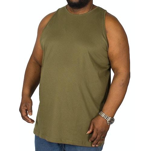 Bigdude Plain Vest Olive Tall