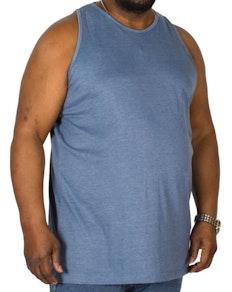 Bigdude Plain Vest Denim Marl Tall