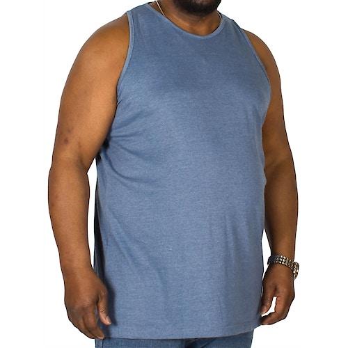Bigdude Tanktop Blau meliert Tall Fit