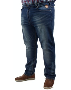 KAM Sergio Regular Fit Stretch Jeans- Dark Wash