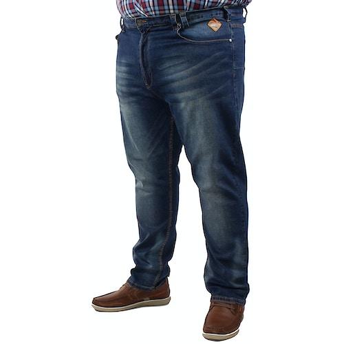 KAM Sergio Regular Fit Stretch Jeans- Dark Wash